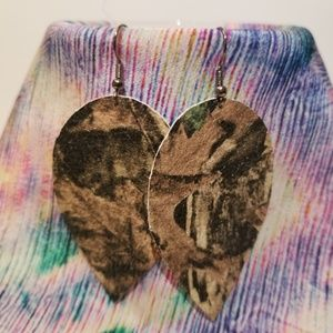 4 FOR $25 GENUINE LEATHER EARRINGS!